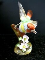 Vintage Crown Staffordshire Fine Bone China Melba Finch Bird Figurine - J. Jones