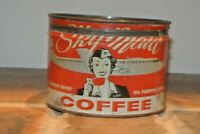 VERY RARE Vintage Antique Tin Can SKY MAID COFFEE 1lb KW NICE!