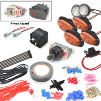 Universal Turn Signal Light Kit With 4-Way Hazard For SXS ATV UTV Toggle Switch