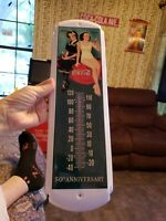 Vintage DRINK Coca Cola Thermometer GENERAL/STORE ADVERTISING MATEL SIGN