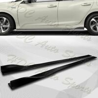 86quot; x 4quot; Universal Black Side Skirt Extension Rocker Splitters Diffuser Lip 6pcs $47.99