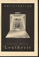 1937 LENTHERIC PERFUME ANTICIPATION BOX BOTTLE PARIS AD13660