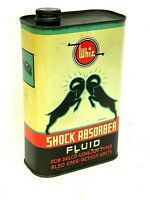 Vintage WHIZ SHOCK ABSORBER FLUID ONE QUART OIL CAN ADVERTISING GARAGE