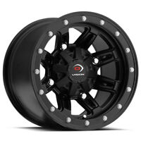 4-Vision 550 ATV/UTV 12x8 4x110 -10mm Matte Black Wheels Rims 12