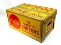 NICE 1940's Coca Cola Cardboard Case Carton Coke 6 Bottle Cartons 16
