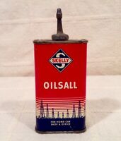 Exc. Vintage SKELLY OILSALL 4 oz. Household Oil Tin With Lead Spout And Cap