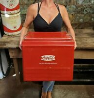 Vintage Progress Fishtail Coca-Cola Cooler With Insert Coke Tray Solid