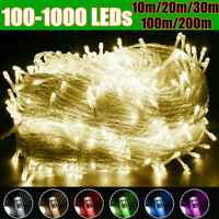 Outdoor Fairy Lights 100-1000 LED Christmas Tree Wedding Light String US Plug