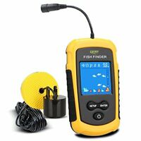 LUCKY Handheld Fish Finder Portable Depth Finder Gear Sonar Transducer LCD . NEW