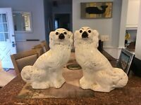 🐕 Antique Staffordshire Dog Pair