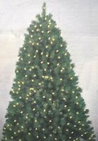 GE DECORATOR'S CHOICE 9 FOOT  PRE-LIT GRAND SPRUCE CHRISTMAS TREE - STAND