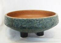 IKEBANA Vtg 60s 3 Leg Japan Pottery Footed Bowl Art Vase Planter MCM Zen
