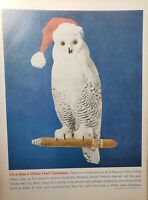 Lot of 4 Vintage White Owl Cigar Ads Advertisements