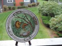 Beautiful Wedgwood Etruria Polychrome Transferware Plate, Circa 1891