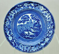 Antique George Jones Wild Rose Blue Staffordshire Transferware Plate