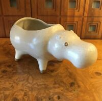 David Stewart Lions Valley Pottery Large Hippo Mid Century