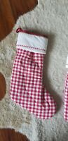 Pottery barn kids quilted gingham stocking