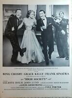 Lot of 3 Vintage Movie Ads High Society Best Foot Forward I'll Cry Tomorrow