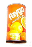 Vintage Faygo Orange Pull Tab Top Soda Pop Can A1+ Pepsi Flat Cone Sign Coke Ofr