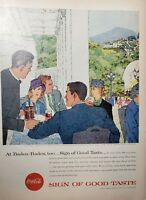 Lot of 2 Vintage Coca Cola Ads Print ARTWORK BY JACK POTTER
