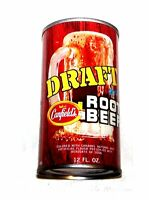 Vintage Canfield's Root Beer Pull Tab Top Soda Pop Can A1+ Pepsi Flat Coke Ofr