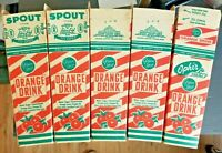 Vintage OPHIR FARMS Green Spot Orange Drink Containers LOT of 5 OREGON