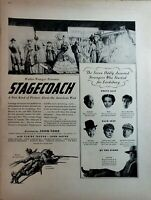 Lot of 4 Vintage United Artists Movie Ads John Wayne Corsican Bros Ann Baxter