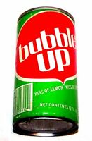 Vintage Bubble Up Pull Tab Top Soda Pop Can A1+ Pepsi Flat Cone Sign Coke Ofr