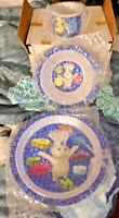 NEW VINTAGE PILLSBURY DOUGHBOY 3 PC CHILD'S DISH SET MFG IN 2000 CUP/BOWL /PLATE