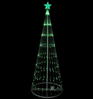 12' Animated LED Lighted GREEN Show Cone Tree Outdoor Christmas Yard Decoration