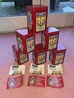 6 Vintage Nestle Toll House Cookies Metal Tin Red Container New Shape w Inserts