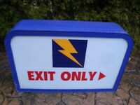 Vintage 1980's Hot n Now Restaurants Non-Lighted Exit Sign (37-1/2