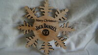 Jack Daniels CHRISTMAS SNOWFLAKE ORNAMENT - NEW! Made from Jack Barrel!