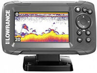 Fish Finder with Bullet Skimmer Transducer 4X - 4-inch Broadband Wide Sonar New