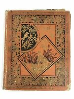 Antique Victorian Scrapbook With 100+ Trade Cards Advertising Embossed