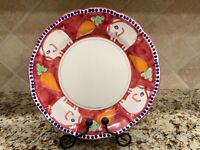 """SOLIMENE VIETRI CAMPAGNA SMALL PIG RED CHARGER PLATE PLATTER 12"""" PORCO FREE SHIP"""