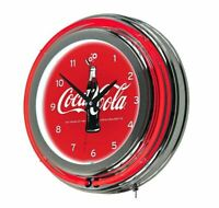 100 Anniversary Sign Coca Cola Logo Game Room Chrome Double Ring Neon Wall Cl