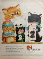 Lot 3 Vintage Norcross Greeting Cards Print Ads Whatever be That Special Day