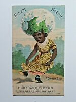 Advertising Trade Card Rice's Seeds Black Americana A Cotton Ball N.Y. 5190