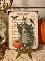 Witches' Dance, Handcrafted Sign / Plaque, Halloween