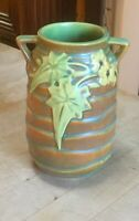 Roseville Pottery 1934 Luffa Vase with Handles and Sticker