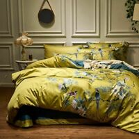 Duvet Cover Beddings Set Egyptian Cotton Silky Printed Patterned Bed Covers Sets