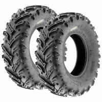 Pair of 2, 23x8-11 23x8x11 Quad ATV All Terrain AT 6 Ply Tires A024 by SunF