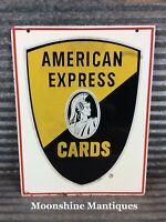 Vintage 1960's AMERICAN EXPRESS Credit Cards Sign