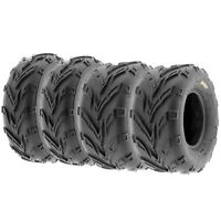 Set of 4, 16x6-8 & 16x8-7 Replacement ATV UTV 6 Ply Tires A004 by SunF