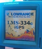 Lowrance lms 334c iGPS Color GPS FISHFINDER TESTED + POWER CABLE