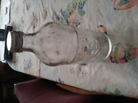 Vintage Pepsi Bottle, Clear, with Cap, 16 oz.