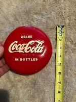 Coca Cola embossed sign RARE Button Coke sign new old stoc  with original paper