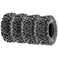 Set of 4, 26x9-12 & 26x11-12 Replacement ATV UTV 6 Ply Tires A051 by SunF