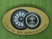 Vintage 1964 COOPER Tires SIGN 50th Anniversary 23x14 Gas Service Station Garage
